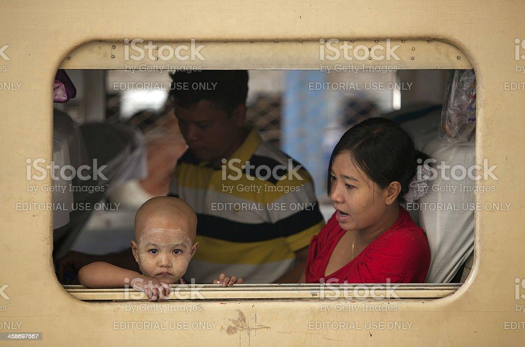 Yangon train station, Myanmar royalty-free stock photo
