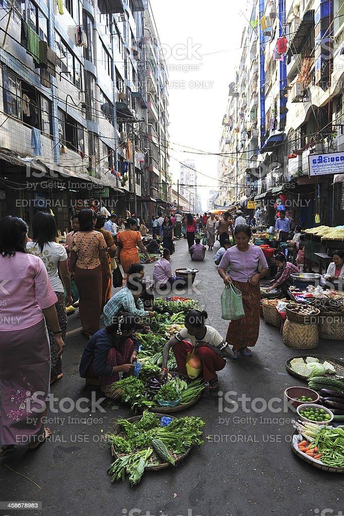 Yangon's market royalty-free stock photo