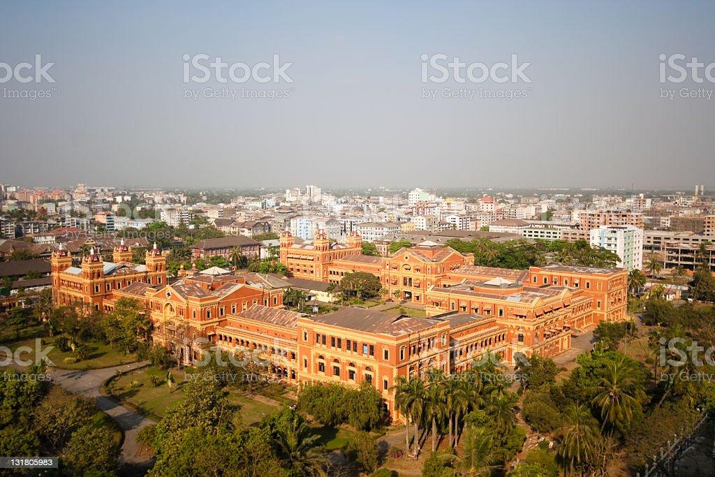 Yangon's Secretariat building stock photo