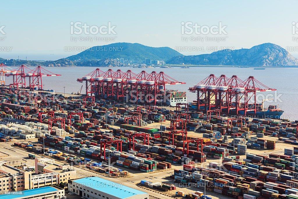 Yangshan deepwater port, Shanghai - China stock photo