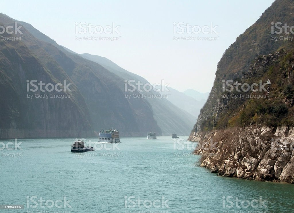Yangtze River scenery stock photo