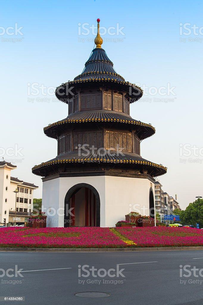 Yangzhou city landmark-Wenchang stock photo