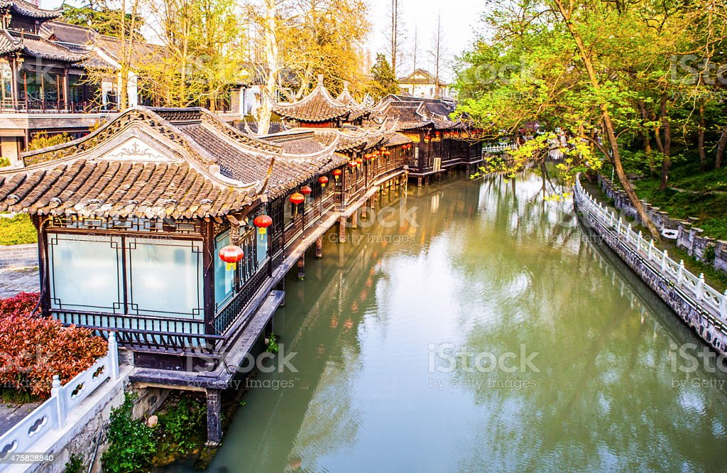 Yangzhou city scene stock photo
