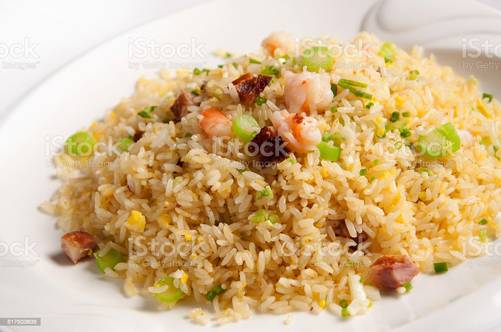 Yangzhou fried rice stock photo