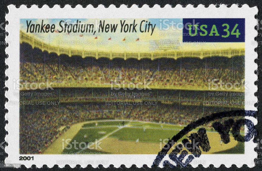Yankee Stadium Stamp stock photo