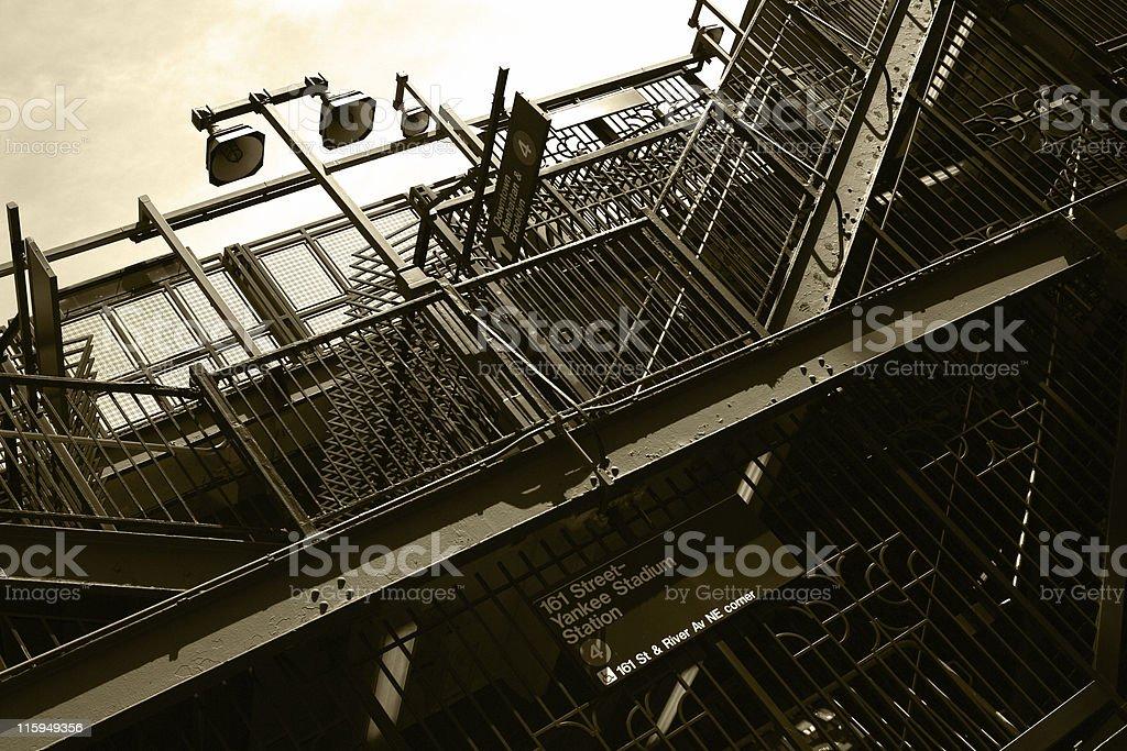 Yankee Stadium Subway Station stock photo