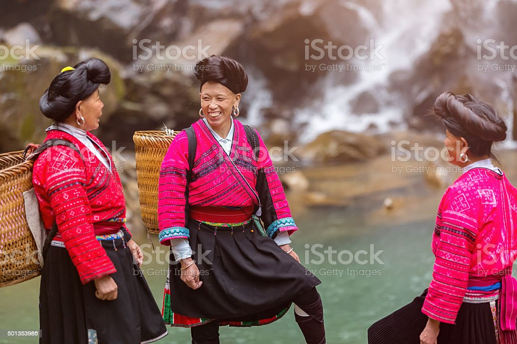 Yao Tribe Women Longsheng, China stock photo