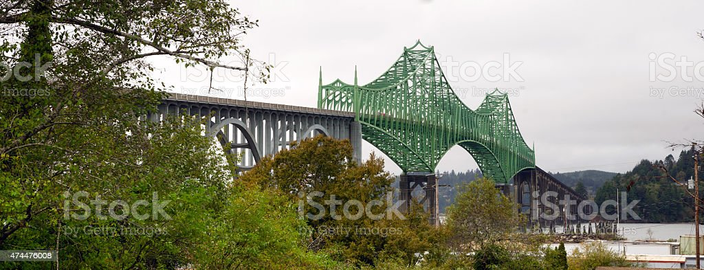 Yaquina Bay Bridge Highway 101 Newport Oregon United States stock photo