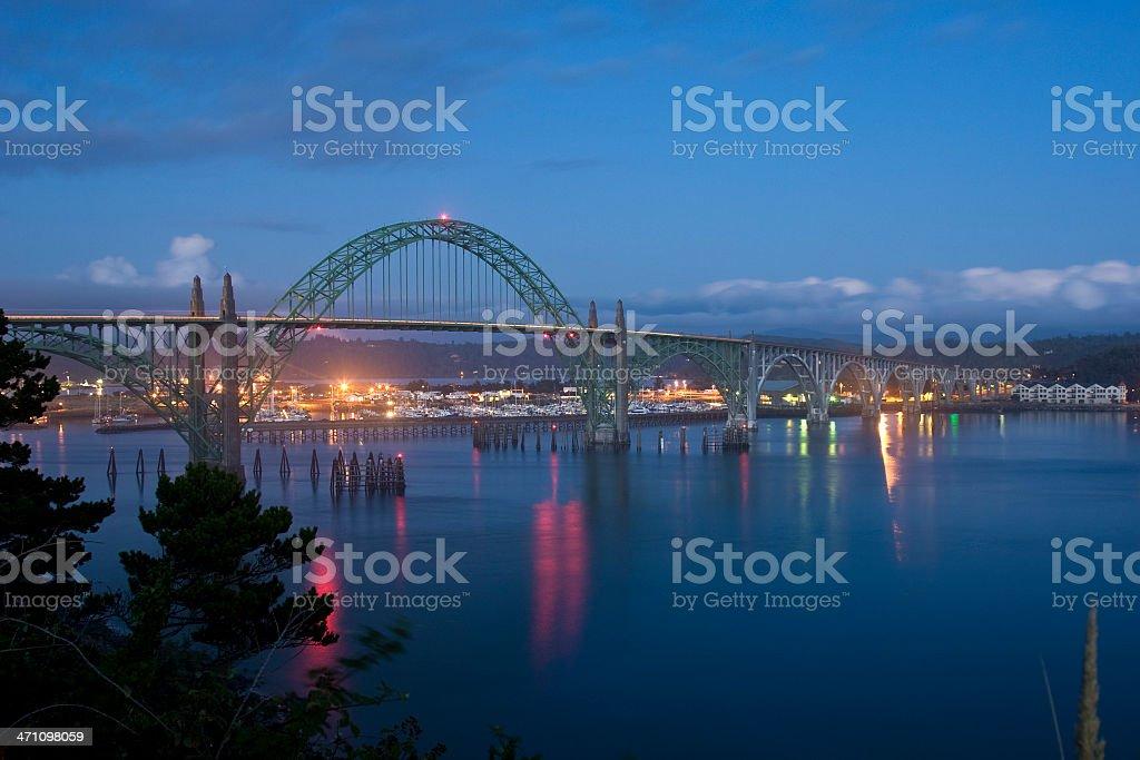 Yaquina Bay Bridge royalty-free stock photo