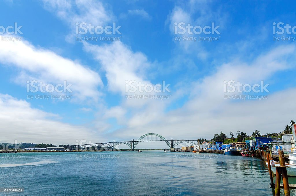 Yaquina Bay Bridge stock photo