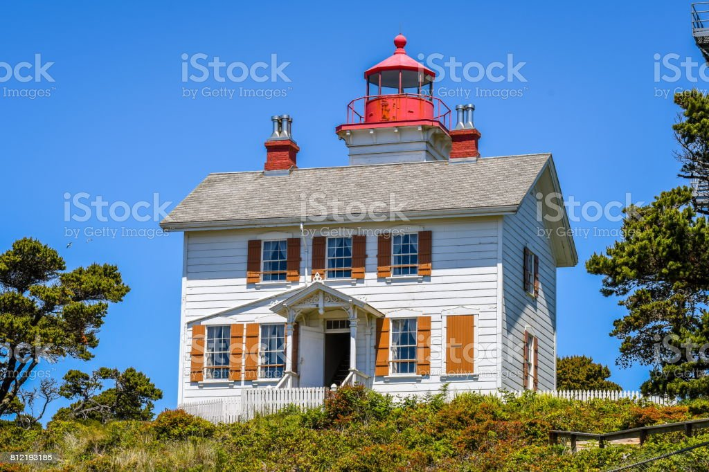 Yaquina Bay Lighthouse,Oregon stock photo
