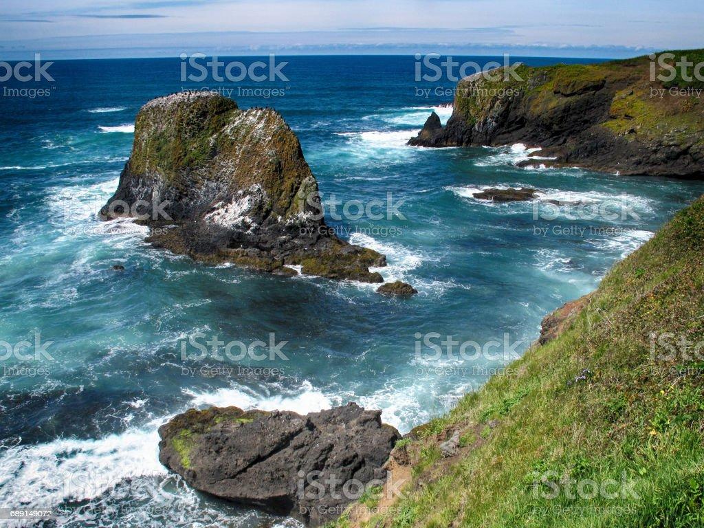 Yaquina Bay, Newport, Lincoln County, Oregon, USA stock photo