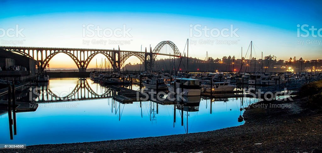 Yaquina Bridge stock photo