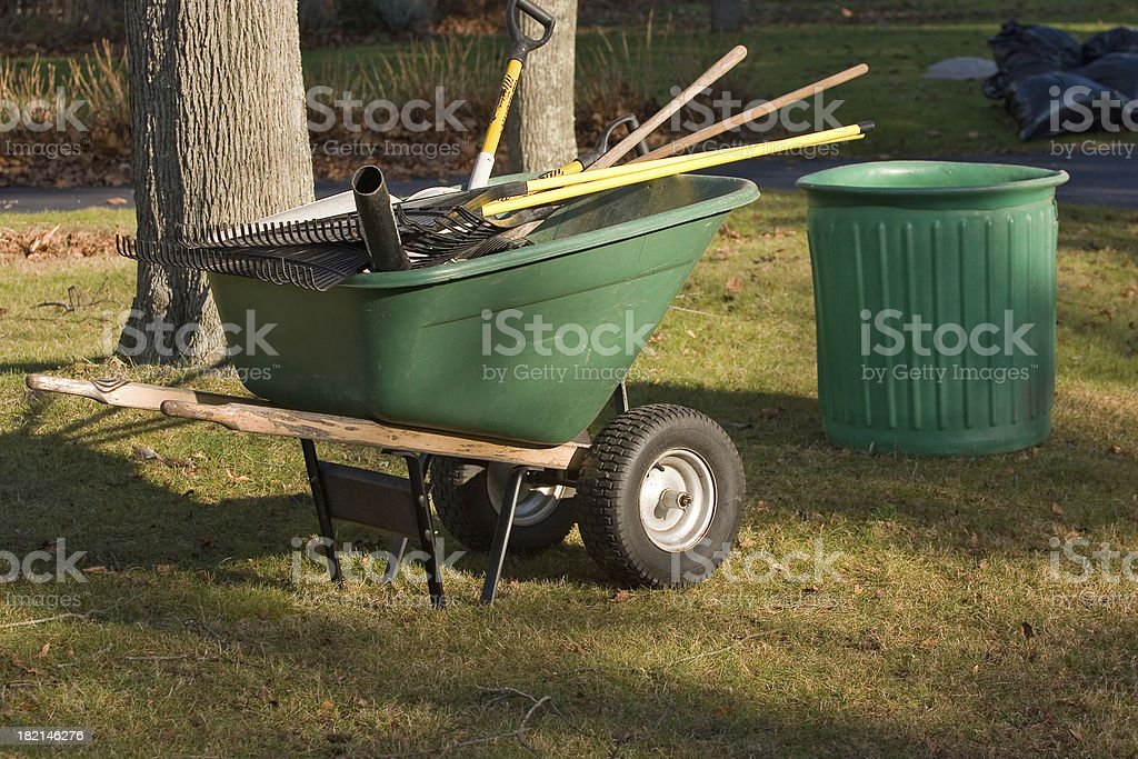 Yard Cleanup royalty-free stock photo