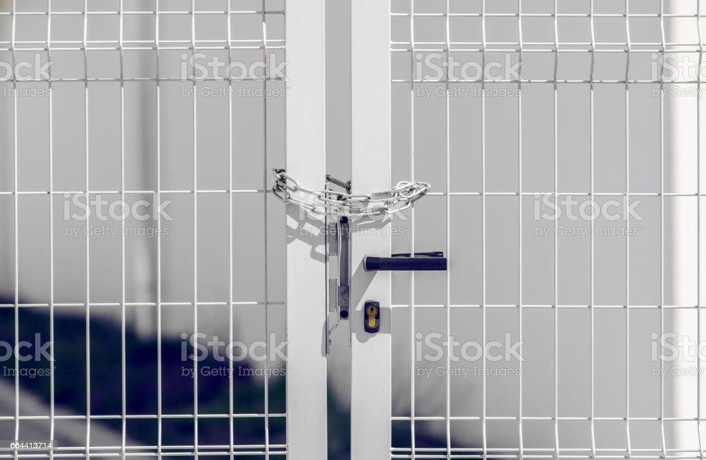 Yard Door stock photo