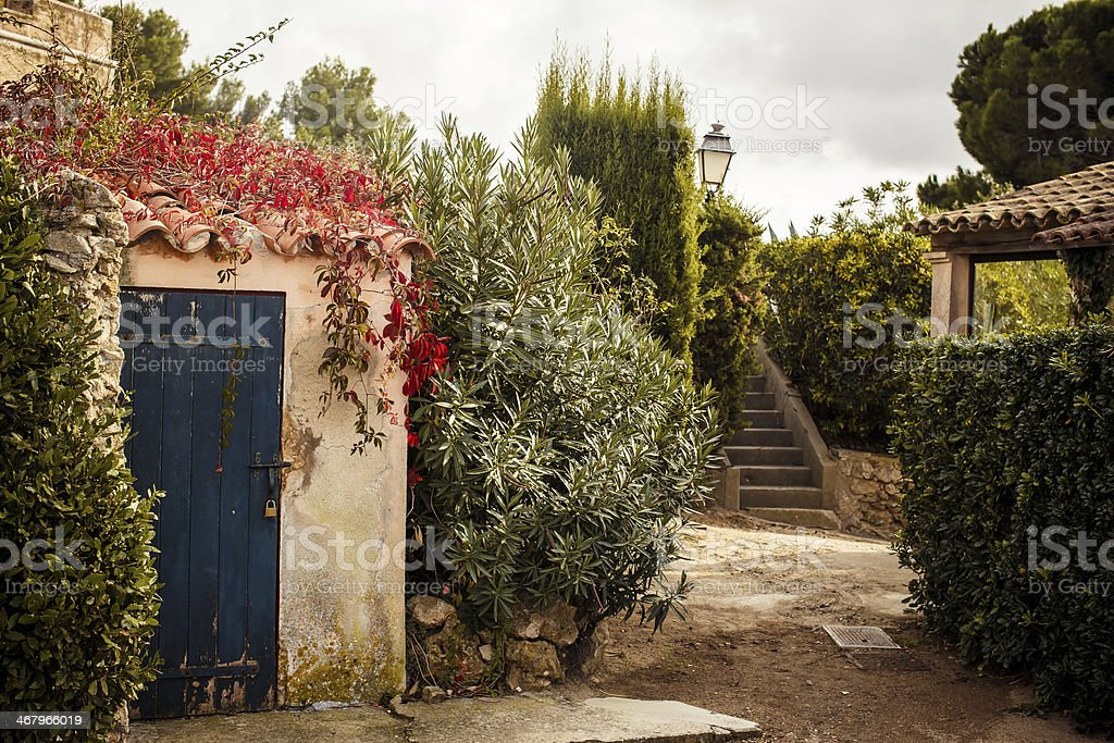 Yard in Saint Tropez stock photo