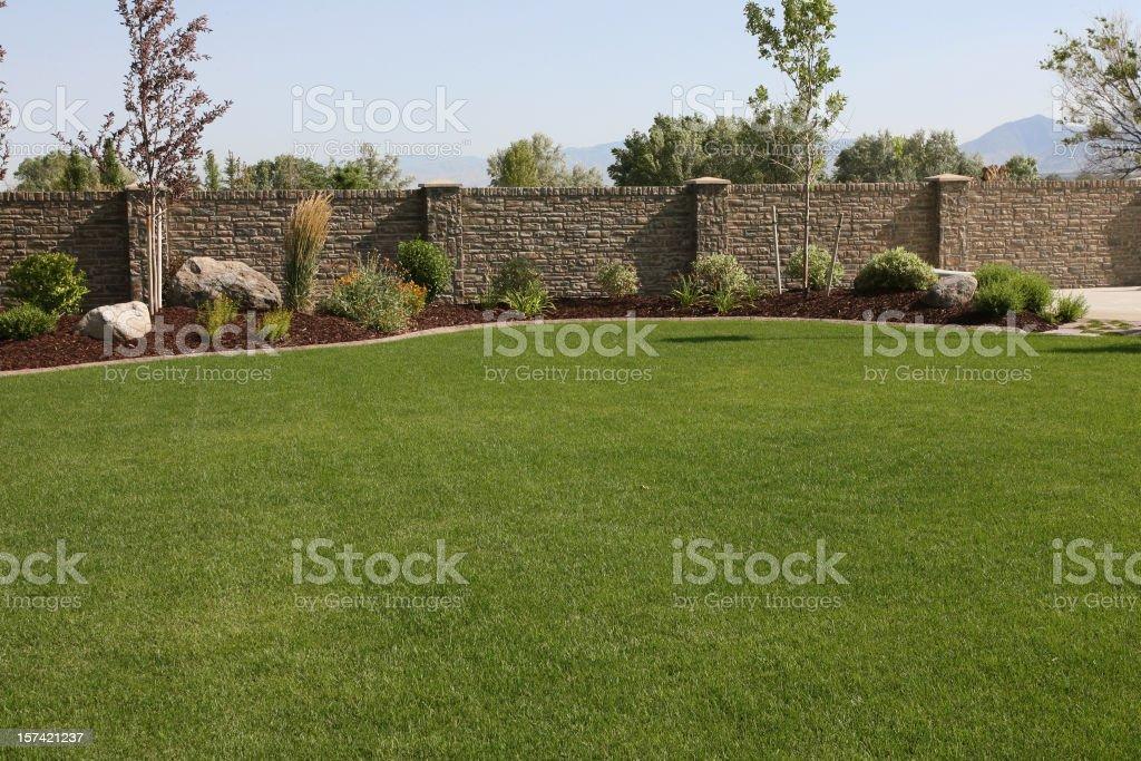 Yard Landscape stock photo