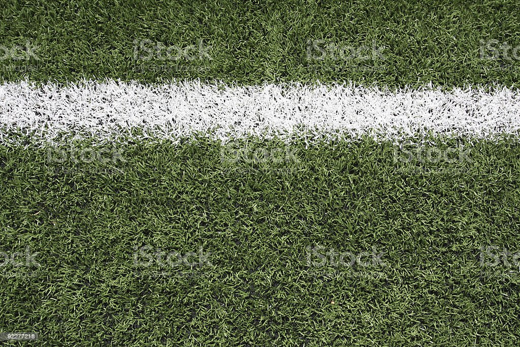 Yard Line Marker of an American Football Field stock photo
