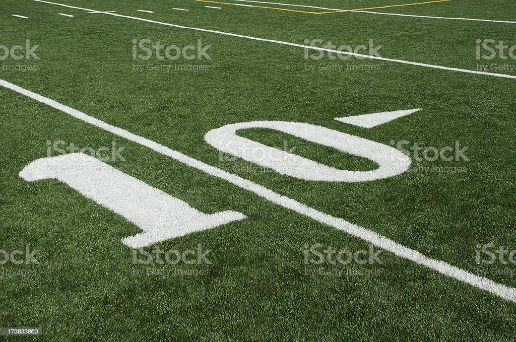 10 Yard Line royalty-free stock photo