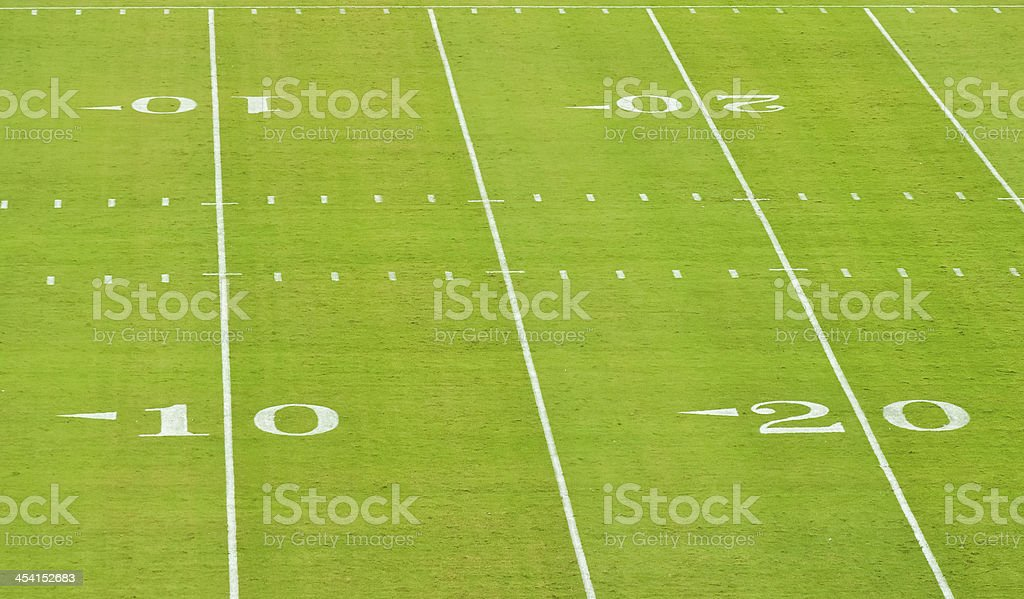 yard lines on a football field royalty-free stock photo