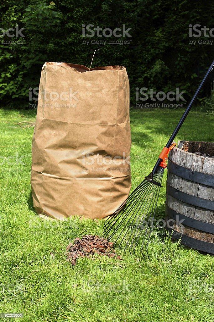 Yard maintenance stock photo
