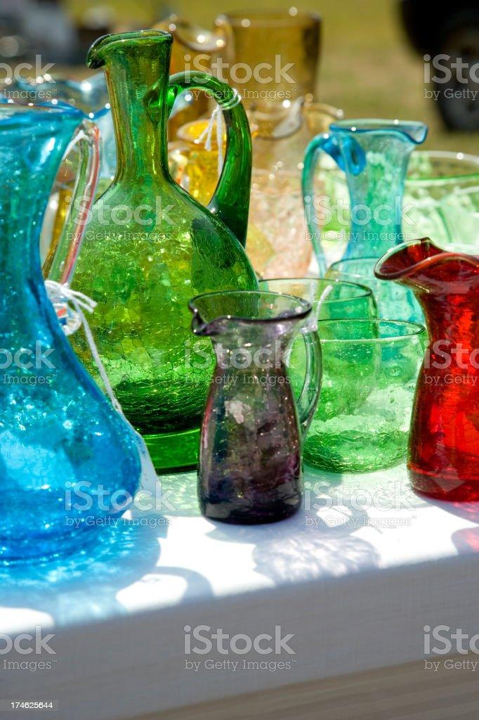 Yard Sale Glass royalty-free stock photo