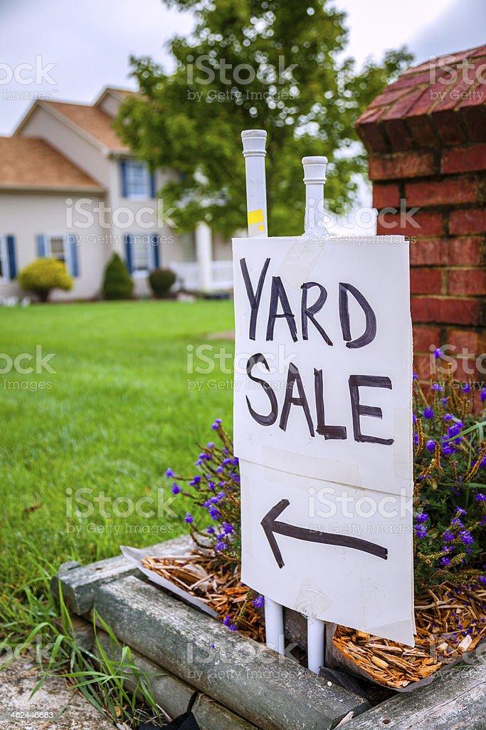Yard sale stock photo