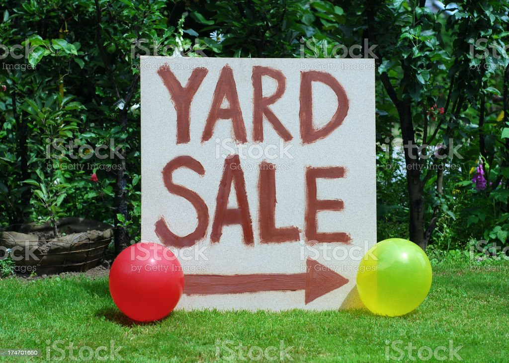 Yard Sale sign royalty-free stock photo