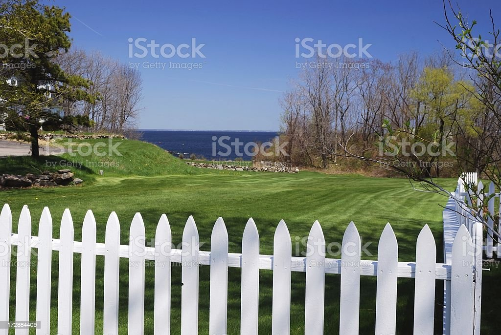 Yard with a view royalty-free stock photo
