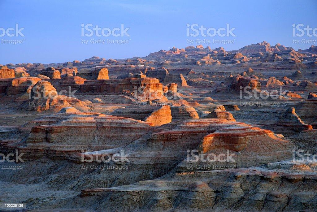 Yardang Landforms royalty-free stock photo