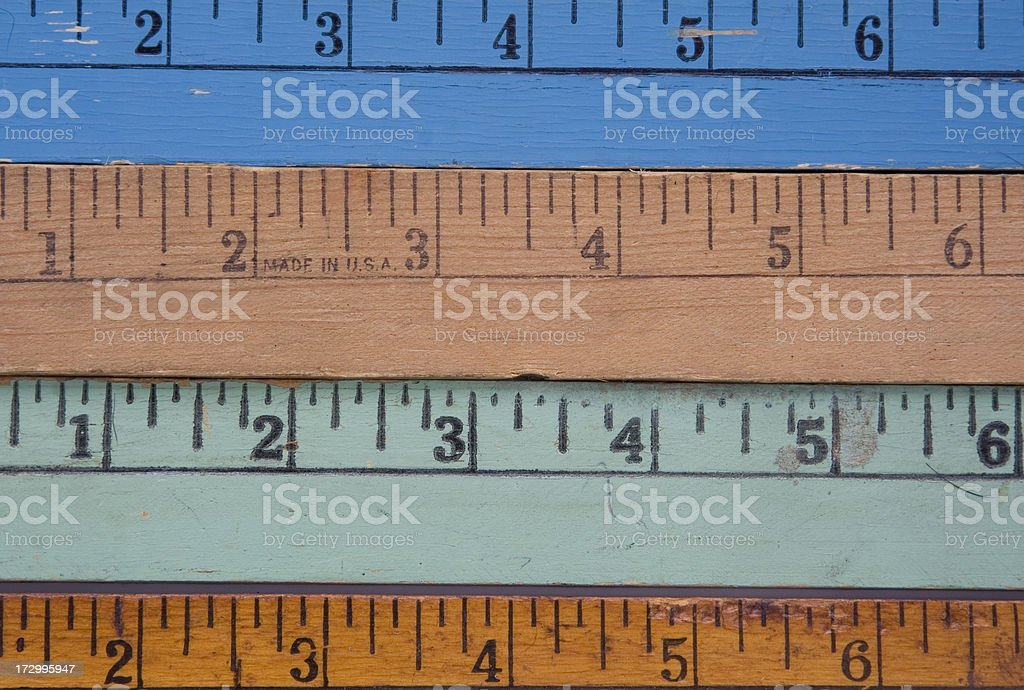 yardsticks royalty-free stock photo