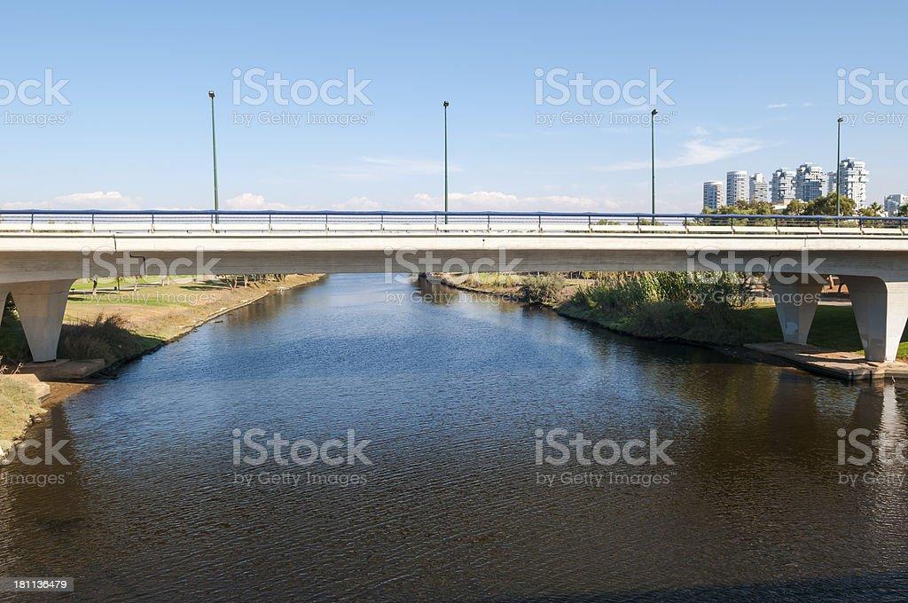 Yarkon River in Tel Aviv royalty-free stock photo