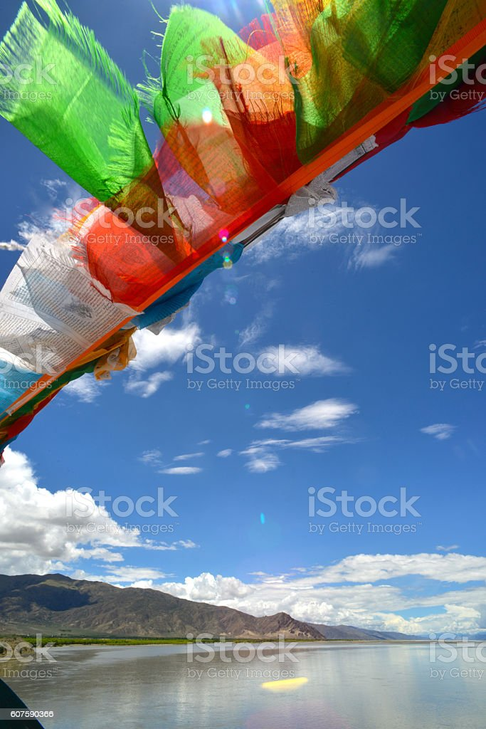 Yarlung Tsangpo River, Tibet, China stock photo