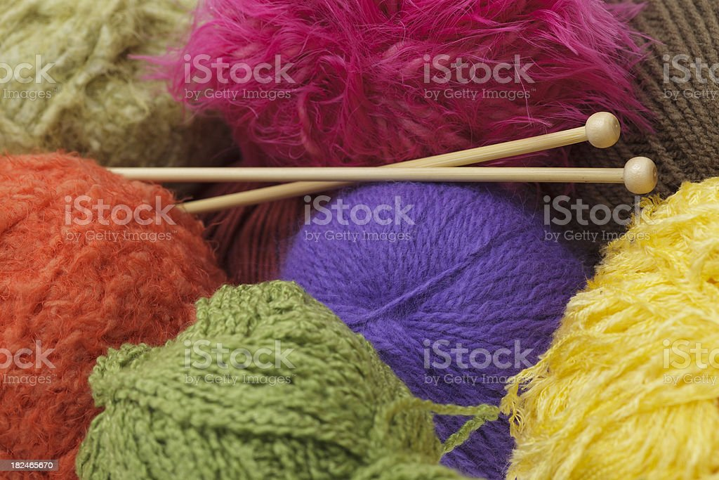 Yarn ball background stock photo