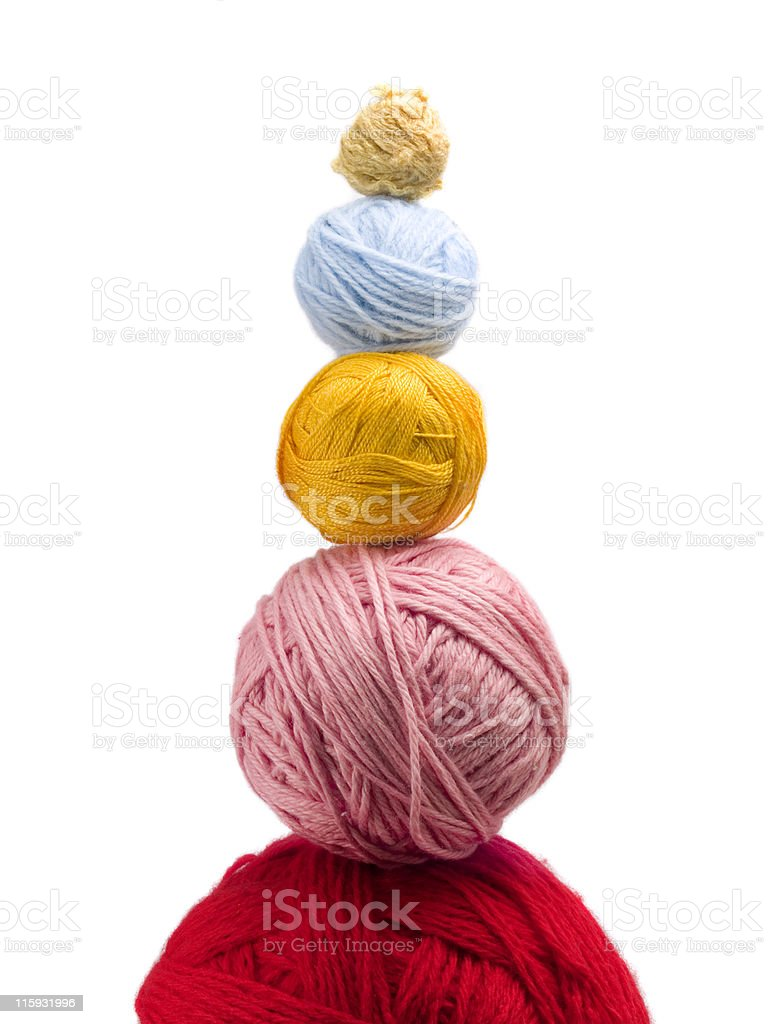 Yarn balls one over another royalty-free stock photo