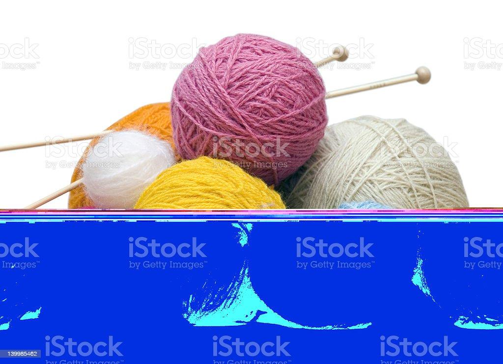 yarn balls stock photo