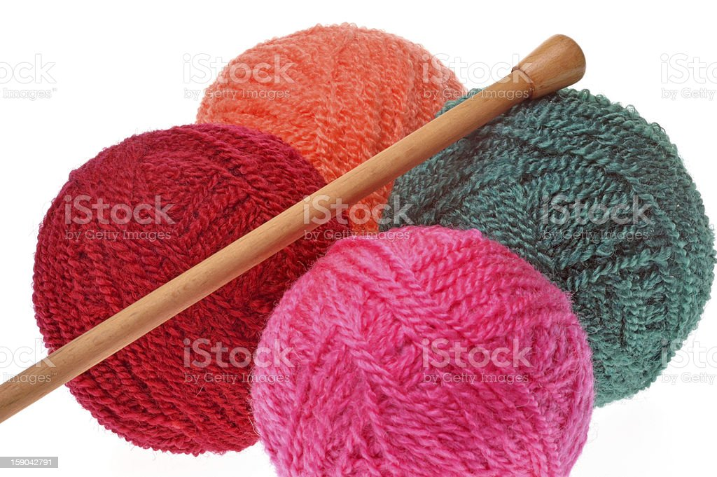 yarn balls royalty-free stock photo