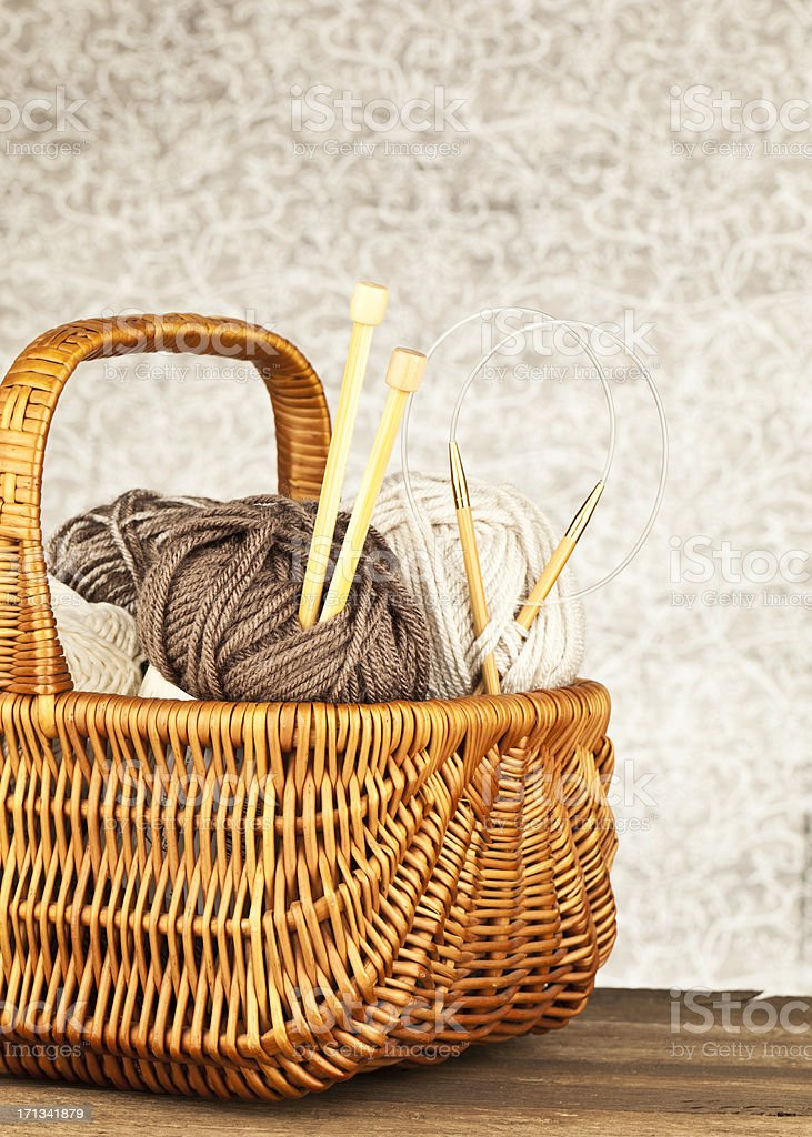 Yarn Basket stock photo