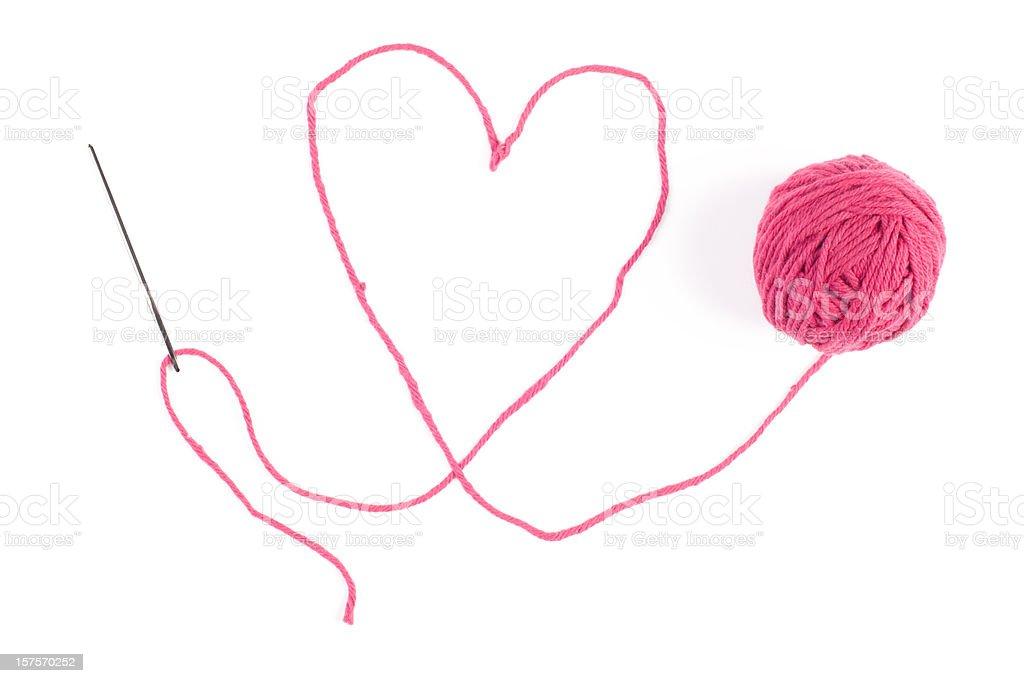 Yarn Heart stock photo