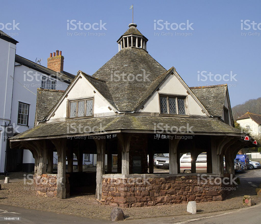Yarn Market in Dunster Somerset England royalty-free stock photo
