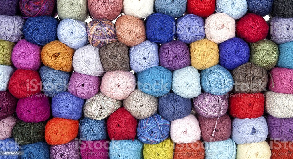 Yarn Of Alpakka Wool stock photo