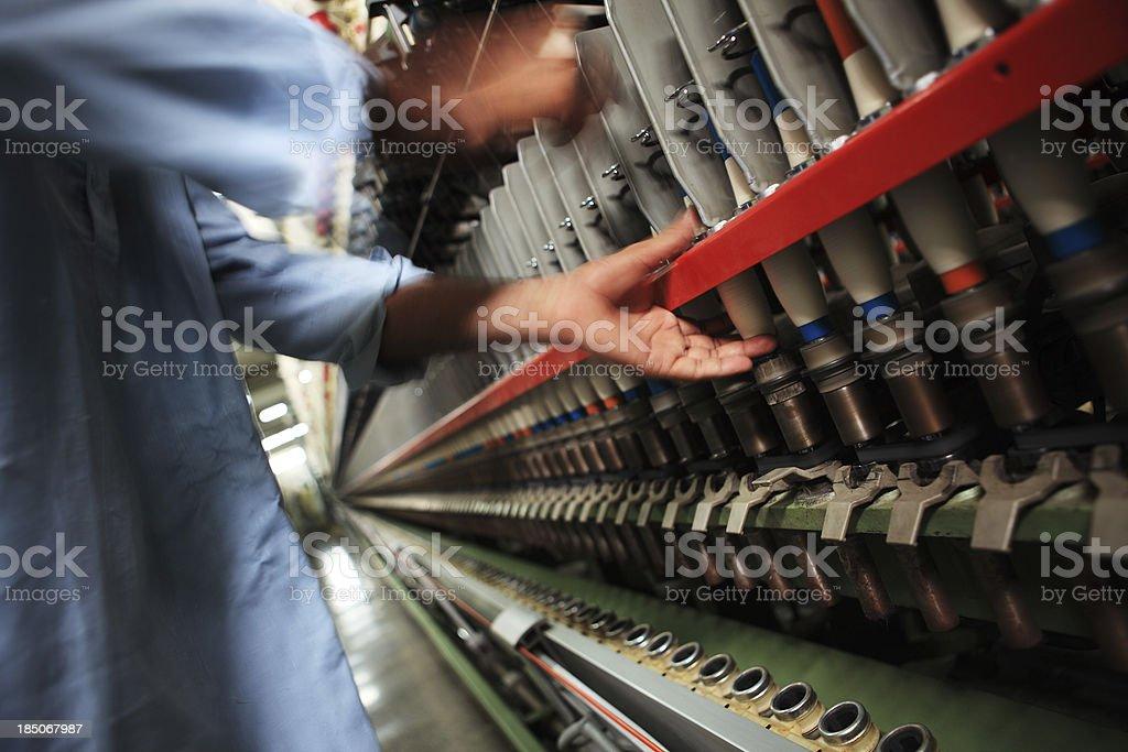 Yarn Production stock photo