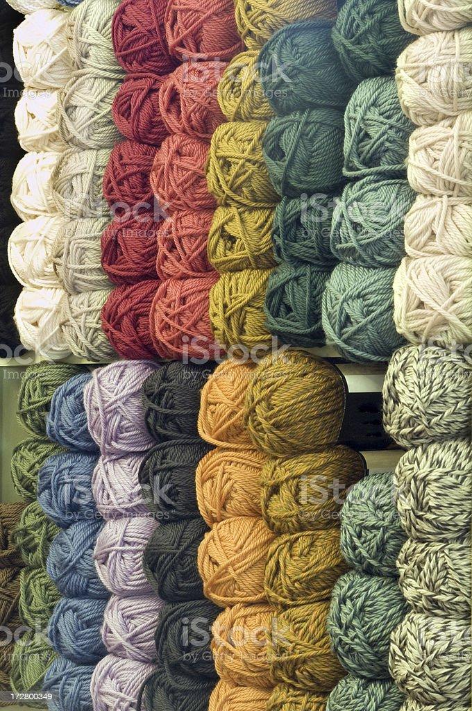 Yarn rows royalty-free stock photo