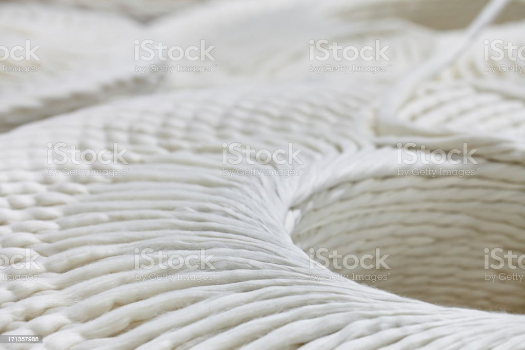 Yarn spinning machine stock photo