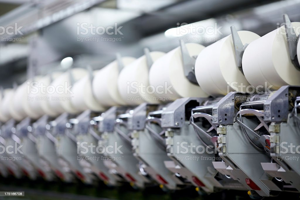 Yarn spinning machine royalty-free stock photo