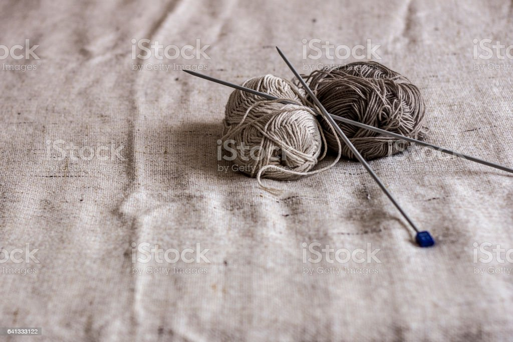 yarn with spokes stock photo
