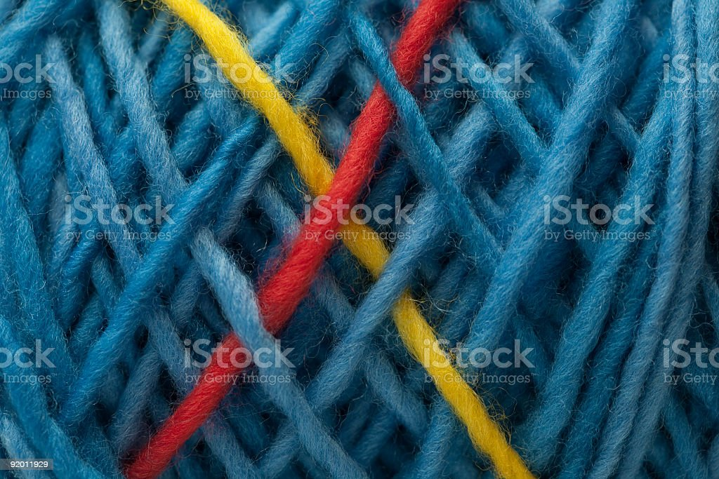 Yarn X stock photo