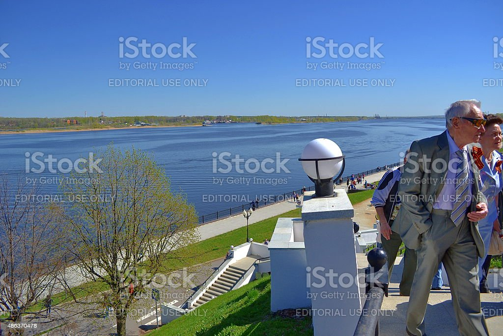 Yaroslavl, Russia, famous place, people, river. City. stock photo