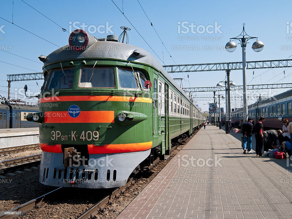 Yaroslavl station on the trans-siberian route through Russia stock photo