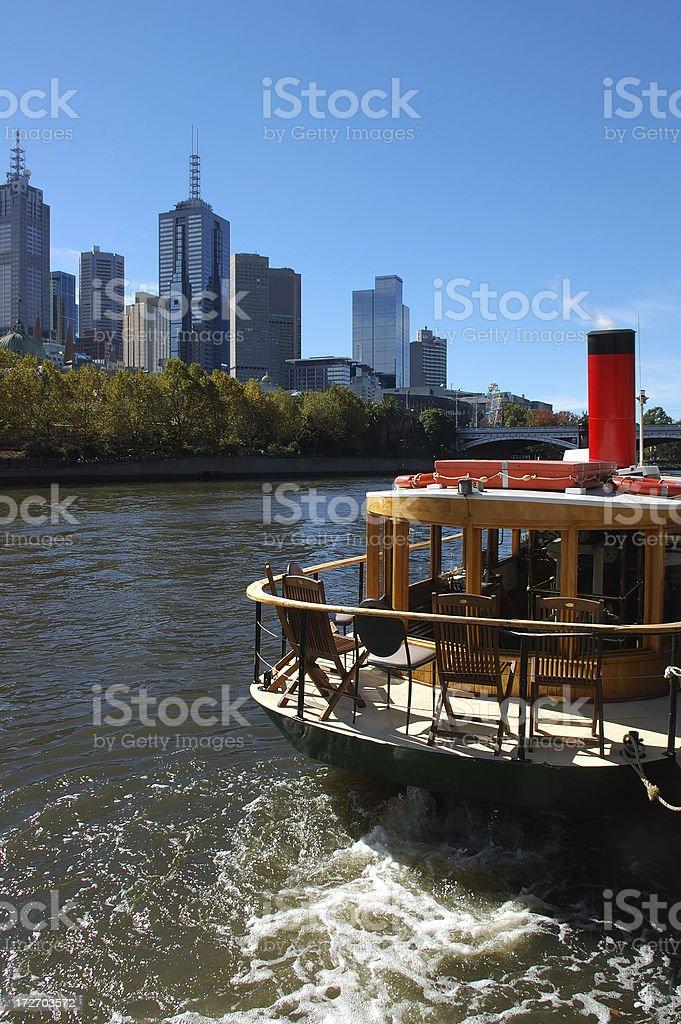 Yarra River cruise stock photo